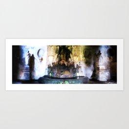 Rome Underground Fountain Art Print