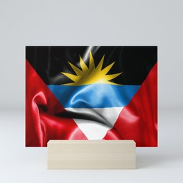 Antigua and Barbuda Flag Mini Art Print