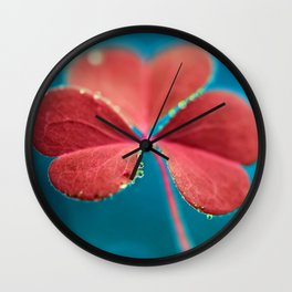 You turn my heart every which way - pink clover macro. Wall Clock