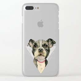 Puppy Eyes 2 Clear iPhone Case
