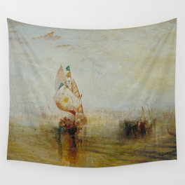 Joseph Mallord William Turner - The Sun of Venice Going to Sea Wall Tapestry