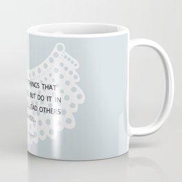 Fight, Lead - RBG (blue) *also in grey Coffee Mug