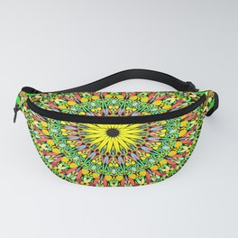 Floral Sun Garden Mandala Fanny Pack