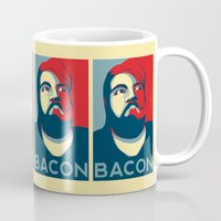 bacon Mugs featuring BACON by MezmoreyezGaming