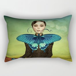 Butterfly Portrait in the meadow Rectangular Pillow