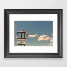 Drive Up Framed Art Print