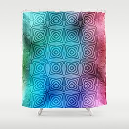 Colourful Circles Background Shower Curtain