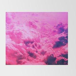 Pink clouds Throw Blanket
