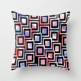 Black and White Squares Pattern 06 Throw Pillow