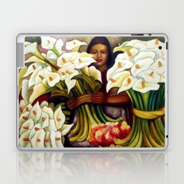 1938 Classical Masterpiece 'Alcatraces Flower Seller' by Diego Rivera Laptop & iPad Skin
