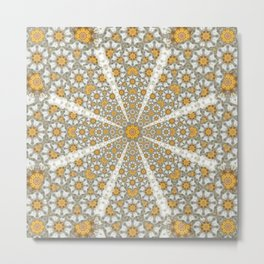 Daisy Fields Mandala Metal Print