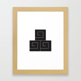 三ツ盛電 Framed Art Print