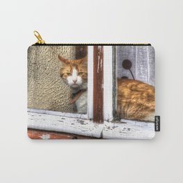 Red Cat in Window Carry-All Pouch