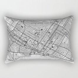 Vintage Map of Montreal (1906) BW Rectangular Pillow
