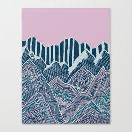 Geode Mountains Canvas Print