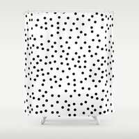 poker Shower Curtains featuring Poker Dot by Bear & Co