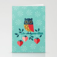 jazzberry Stationery Cards featuring OWL ALWAYS LOVE YOU by Daisy Beatrice