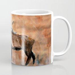 North American Elk Acrylics On Paper  Coffee Mug