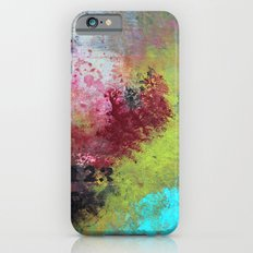 Grunge Garden - Urban Abstract Acrylic Painting iPhone 6s Slim Case