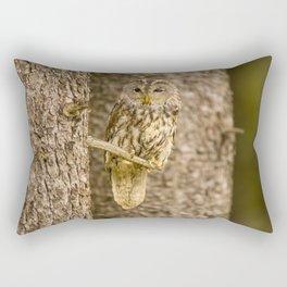 Perched Tawny Owl Rectangular Pillow
