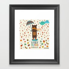 Baby Bears Icecar Framed Art Print