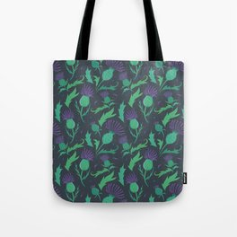 Scottish Thistle Pattern Tote Bag