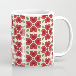 Christmas Heart Flowers Coffee Mug