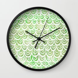 Watercolor Mermaid Peridot Wall Clock