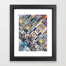 Apartments In The City Framed Art Print