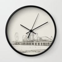 old school Wall Clocks featuring Old School by Libertad Leal Photography
