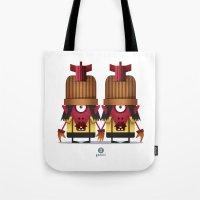 gemini Tote Bags featuring GEMINI by Angelo Cerantola