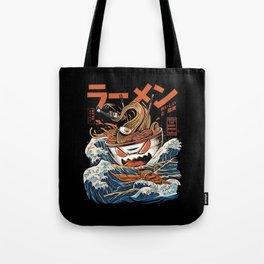 The black Great Ramen Tote Bag