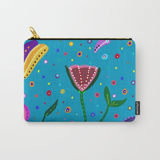 Flowers at Dusk, drawing Carry-All Pouch