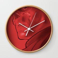 The Red Skull Wall Clock
