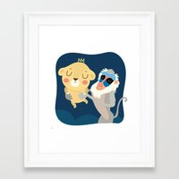 king Framed Art Prints featuring King by Maria Jose Da Luz