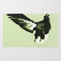 eagle Area & Throw Rugs featuring Eagle by Yaroslav Greben