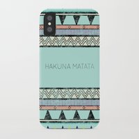 hakuna iPhone & iPod Cases featuring Hakuna Matata by Lala Vicencio