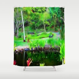 Kahana Bay V ... By LadyShalene Shower Curtain