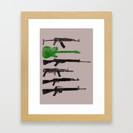 Weapons Framed Art Print
