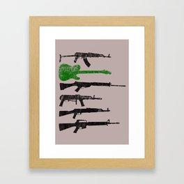 Weapons Framed Art Print