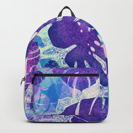 monstera leaves tropical 4 Backpack