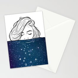 Deep breathing. Stationery Cards