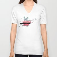 storm V-neck T-shirts featuring Storm by Last Call