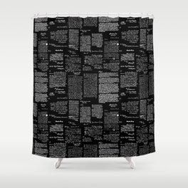 George Washington's Letters // Black Shower Curtain