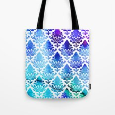 Damask in Cool Purple Tote Bag