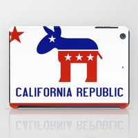 political iPad Cases featuring Political California Republic Democrat by NorCal