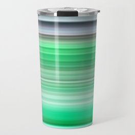 grey and green striped pattern Travel Mug