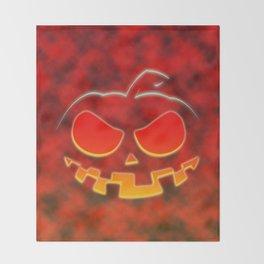 Screaming Pumpkin Throw Blanket