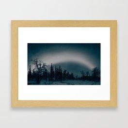 Shooting starts & northern lights Framed Art Print