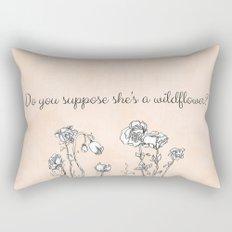 WILDFLOWER // ALICE IN WONDERLAND QUOTE Rectangular Pillow